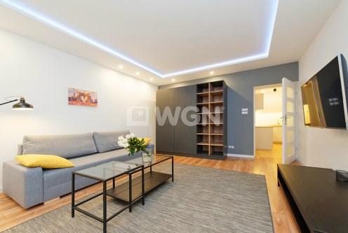 nowoczesny salon w ekskluzywnym apartamencie do wynajęcia w Tarnowie