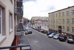 widok z okien oraz balkonu luksusowego apartamentu w Szczecinie na wynajem