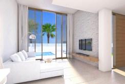 zdjęcie prezentuje komfortowy salon w luksusowej willi do sprzedaży w Hiszpanii