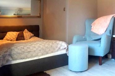 elegancka, prywatna sypialnia w luksusowym apartamencie w Szczecinie na sprzedaż