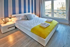 prywatna, zaciszna sypialnia w ekskluzywnym apartamencie do wynajmu w Szczecinie