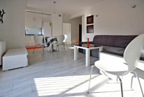 nowoczesne wnętrze luksusowego apartamentu do wynajęcia w Szczecinie