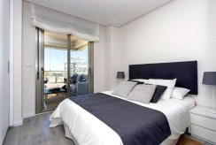 prywatna, zaciszna sypialnia w luksusowym apartamencie w Hiszpanii (La Zenia) na sprzedaż