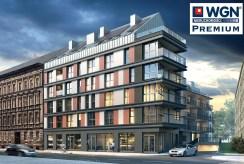 widok z ulicy na apartamentowiec w Szczecinie, gdzie mieści się ekskluzywny apartament na sprzedaż