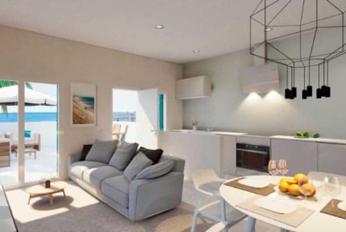 komfortowy salon w ekskluzywnej willi do sprzedaży w Hiszpanii (Costa Blanca, Orihuela Costa)