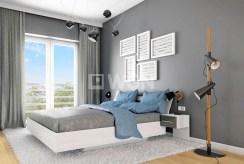 widok na zaciszną, prywatną sypialnię w ekskluzywnym apartamencie do sprzedaży w Jeleniej Górze