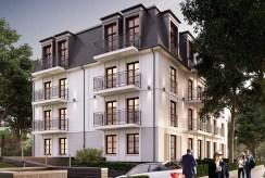 widok na apartamentowiec w Świnoujściu, w którym znajduje się oferowany na sprzedaż ekskluzywny apartament