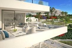 widokowy taras wchodzący w skład luksusowego apartamentu Hiszpania na sprzedaż