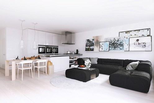 zaprojektowane w nowoczesnym designie wnętrze ekskluzywnego apartamentu do sprzedaży Kraków (okolice)