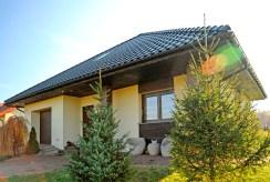 widok od strony ogrodu na luksusową willę do sprzedaży Gliwice (okolice)