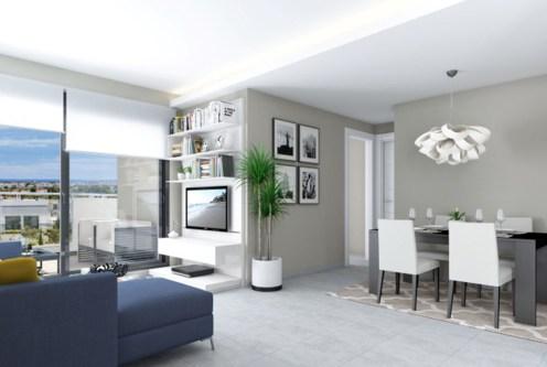 zaprojektowane w nowoczesnym designie wnętrze luksusowego apartamentu do sprzedaży Hiszpania (Costa Blanca, Orihuela Costa)