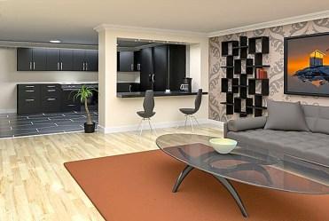 nowoczesny salon w luksusowym apartamencie do sprzedaży Wisła