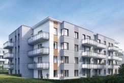 widok na apartamentowiec, w którym mieści się oferowany na sprzedaż luksusowy apartament Kraków