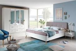 widok na elegancką sypialnię w luksusowym apartamencie do sprzedaży Grudziądz