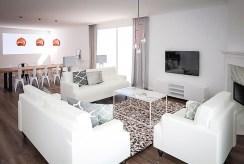 widok na salon w luksusowym apartamencie do sprzedaży Grudziądz