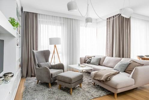 elegancki salon w ekskluzywnym apartamencie do sprzedaży Grudziądz