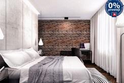 na zdjęciu elegancka, zaciszna sypialnia w luksusowym apartamencie na sprzedaż Kraków