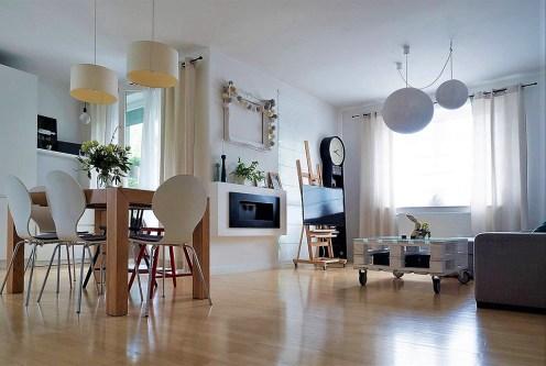 słoneczne, wytworne wnętrze ekskluzywnego apartamentu do sprzedaży Kraków