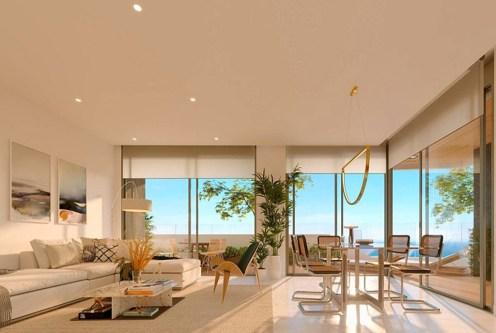 nowoczesne wnętrze ekskluzywnego apartamentu do sprzedaży Costa Blanca, Playa Poniente (Hiszpania)