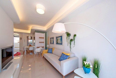 prestiżowy salon w luksusowym apartamencie na sprzedaż La Zeni (Hiszpania)