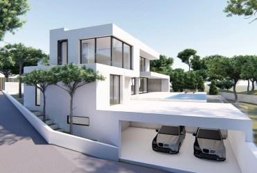 wszystkie kondygnacje łącznie z garażami luksusowej willi na sprzedaż Hiszpania (Morair)