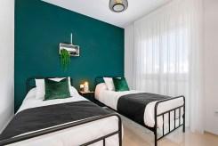 zaciszna sypialnia w luksusowym apartamencie do sprzedaży Hiszpania (Ciudad Quesad)