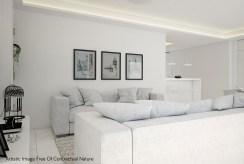 fragment prestiżowego salonu w ekskluzywnym apartamencie na sprzedaż Hiszpania (Guardamar De Segur)
