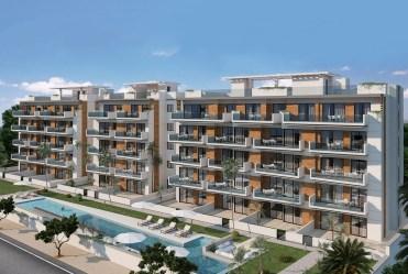 na zdjęciu komfortowy apartamentowiec, w którym znajduje się oferowany na sprzedaż luksusowy apartament Hiszpania (Guardamar De Segur)