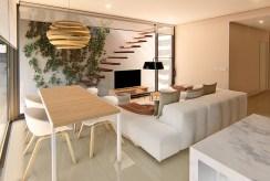 prestiżowy, elegancki salon w luksusowym apartamencie do sprzedaży Hiszpania (Mar de Cristal)
