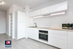 funkcjonalnie zabudowana kuchnia w luksusowym apartamencie do sprzedaży Gdańsk