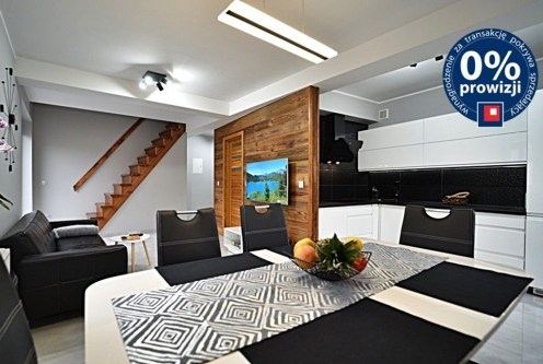 nowoczesny design salonu w luksusowym apartamencie na sprzedaż Bolesławiec