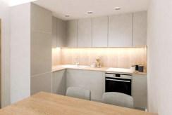zaprojektowana w nowoczesnym designie kuchnia w luksusowym apartamencie na sprzedaż Ostrów Wielkopolski