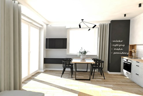 nowoczesny design salonu w ekskluzywnym apartamencie do sprzedaży Ostrów Wielkopolski