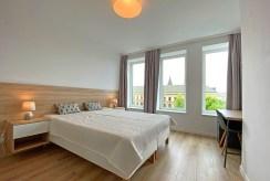 zaciszna sypialnia w ekskluzywnym apartamencie na wynajem Szczecin