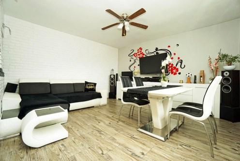 nowoczesny salon w ekskluzywnym apartamencie do sprzedaży Elbląg