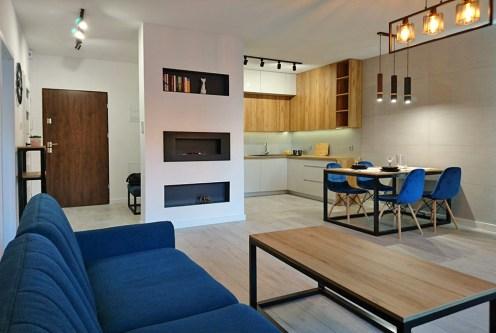 ekskluzywne wnętrze salonu luksusowego apartamentu do sprzedaży Częstochowa
