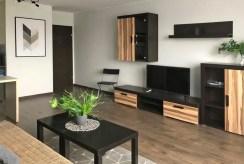 zbliżenie na pokój dzienny w luksusowym apartamencie do wynajmu Szczecin