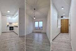 3 ujęcia przestronnego wnętrza w luksusowym apartamencie na wynajem Wieluń
