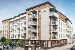 widok na budynek, w którym znajdziemy oferowany do sprzedaży ekskluzywny apartament Legnica