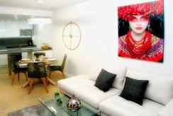widok z salonu na aneks kuchenny w ekskluzywnym apartamencie do sprzedaży Hiszpania (Orihuela Costa, Villamartin)
