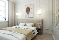 zaciszna sypialnia w luksusowym apartamencie na sprzedaż Kalisz