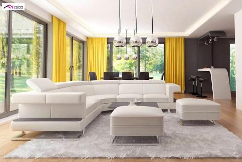 wytworny pokój dzienny w luksusowej willi do sprzedaży Kalisz