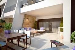 okazały taras przy luksusowym apartamencie na sprzedaż Hiszpania