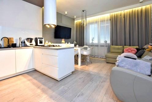efektowne oświetlenie wnętrza ekskluzywnego apartamentu na sprzedaz Inowrocław