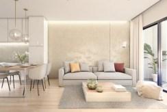 zbliżenie na salon w luksusowym apartamencie na sprzedaż Hiszpania (Benalmadena)