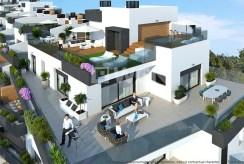 widok z góry na osiedle, gdzie mieści się oferowany do sprzedaży luksusowy apartament Hiszpania