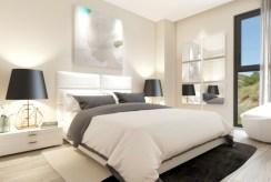 elegancka sypialnia w luksusowym apartamencie do sprzedaży Hiszpania