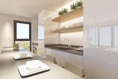 funkcjonalna kuchnia w luksusowym apartamencie do sprzedaży Hiszpania