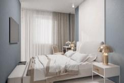 prywatna sypialnia w ekskluzywnym apartamencie na sprzedaż nad morzem