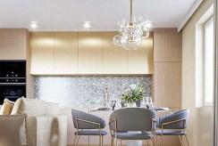 stylowa jadalnia w luksusowym apartamencie do sprxedaży Wałbrzych (okolice)